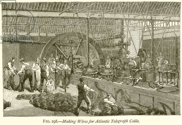 Making Wires for Atlantic Telegraph Cable (engraving)
