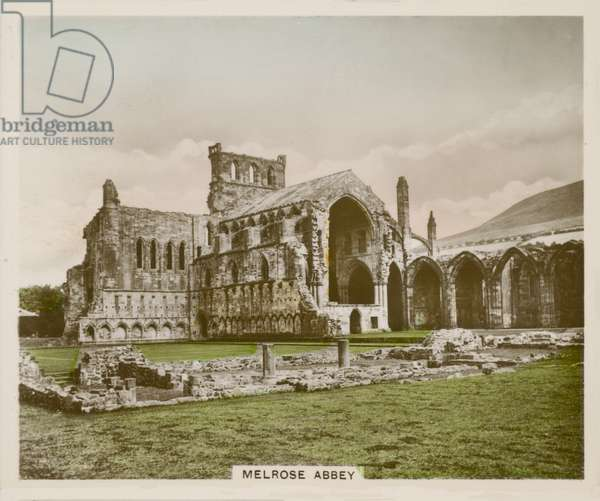 Melrose Abbey (coloured photo)