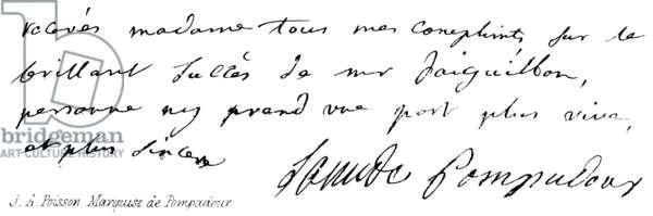 J A Poisson, Marquise de Pompadour (engraving)