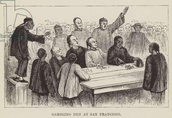 Gambling Den at San Francisco (engraving)