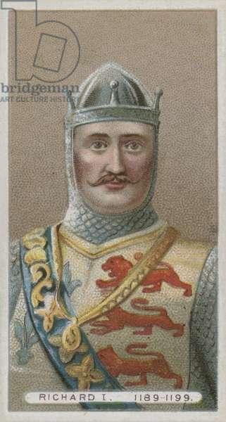 King Richard I, The Lion Heart (chromolitho)