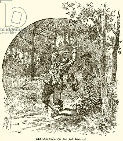 Assassination of La Salle (engraving)