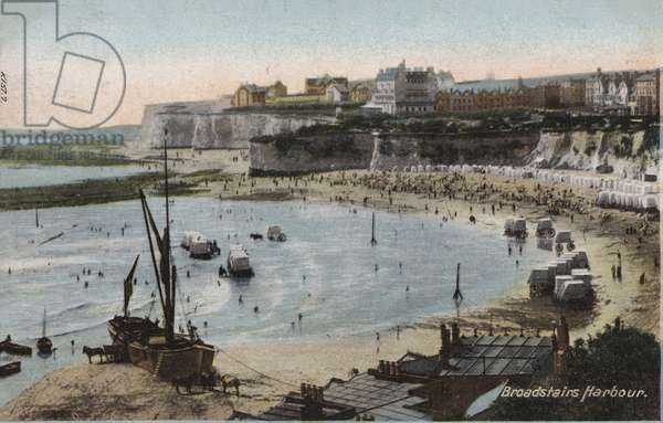 Broadstairs Harbour (coloured photo)