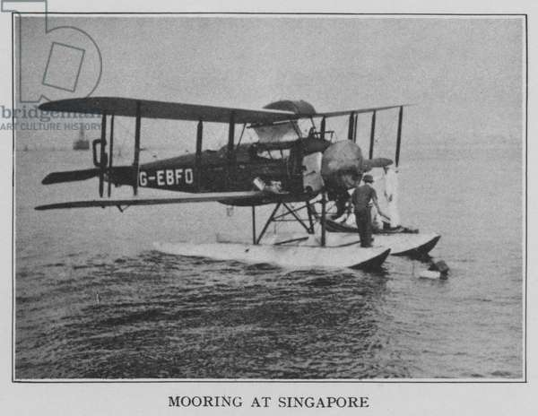 Mooring at Singapore (b/w photo)