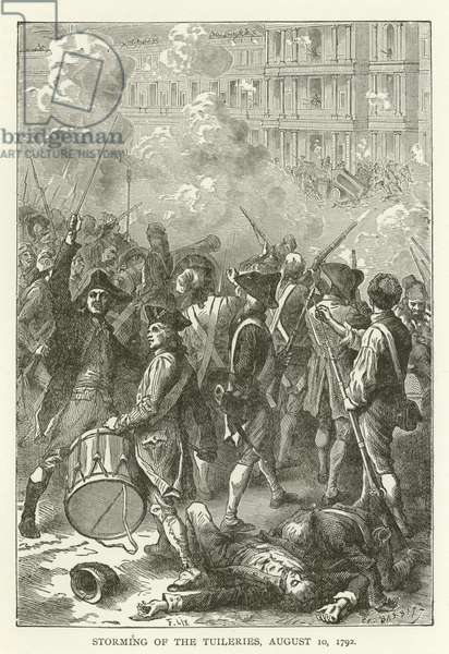 Storming of the Tuileries, 10 August 1792 (engraving)