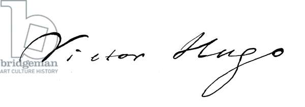 Victor Hugo, signature (engraving)