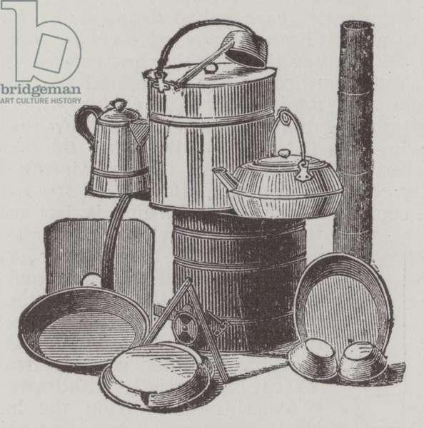 Camp-stove (engraving)
