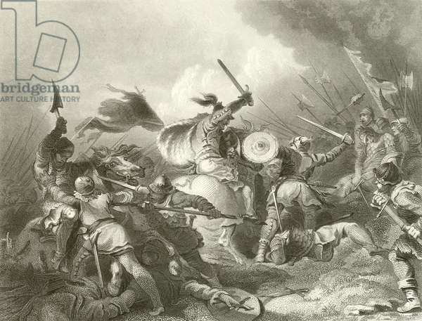 The battle of Hastings (engraving)