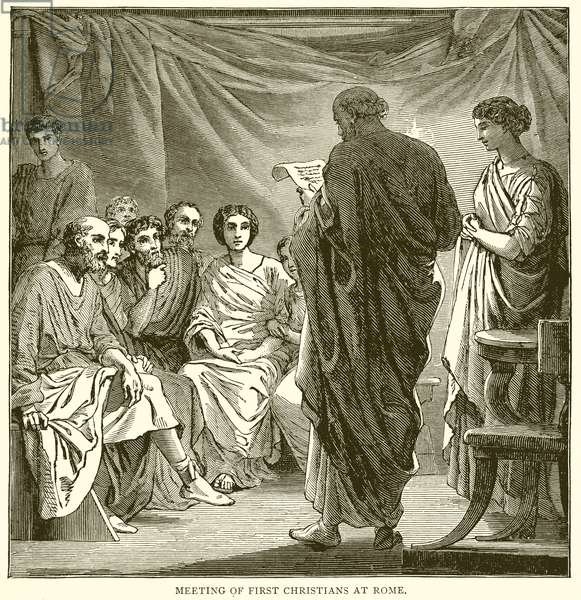 Meeting of First Christians at Rome (engraving)