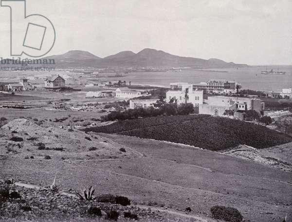 Las Palmas, Port de la Luz (b/w photo)