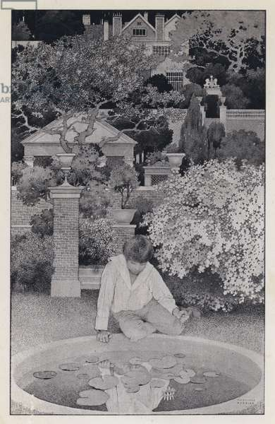 Maxfield Parrish illustration for The Golden Age by Kenneth Grahame (litho)