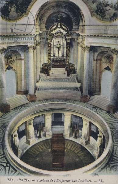 Tomb of the Emperor Napoleon I at Les Invalides, Paris, France (colour photo)