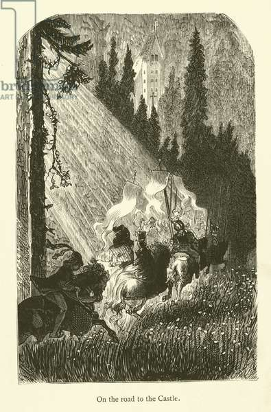 Illustration for the works of Rabelais (engraving)