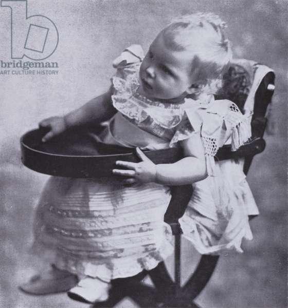 Prince Edward, the future King Edward VIII, as a baby, 1895 (b/w photo)
