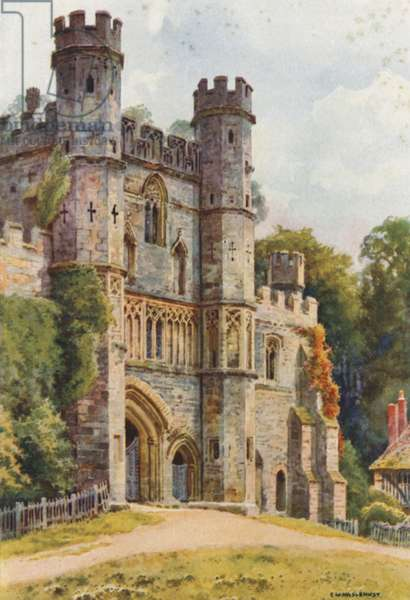 The Gateway, Battle Abbey (colour litho)