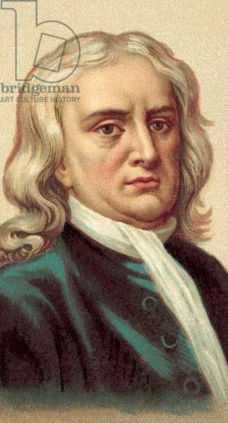 Sir Isaac Newton (chromolitho)