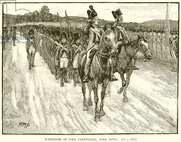 Surrender of Lord Cornwallis, York Town (engraving)