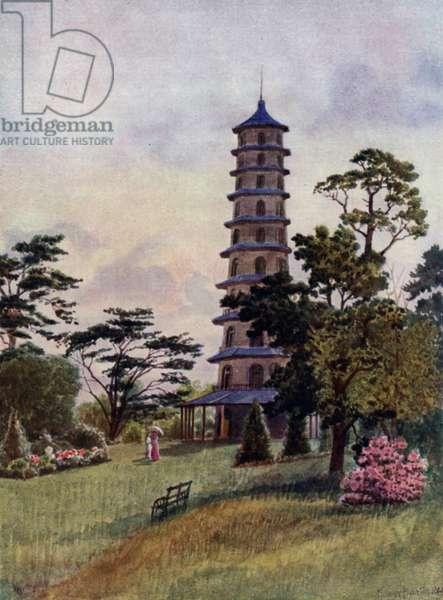 Kew Gardens: The Pagoda (colour litho)