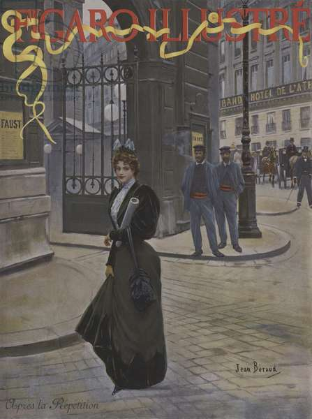 Apres la Repetition (After the Rehearsal). Cover of Le Figaro Illustre, April 1896 (colour litho)