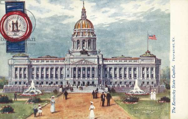 The Kentucky State Capitol, Frankfort, Kentucky (colour litho)