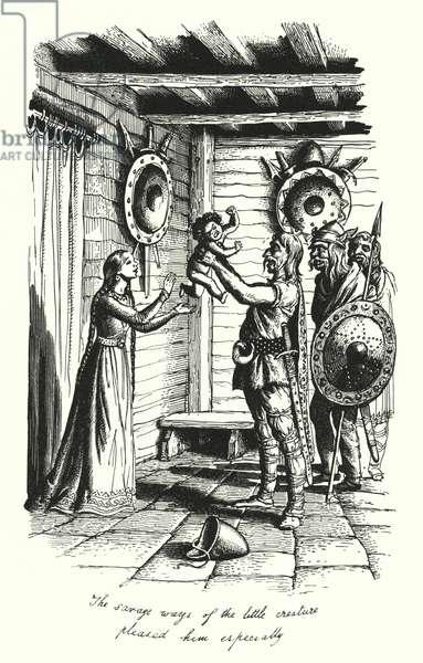 Hans Christian Andersen: The Marsh King's Daughter (litho)