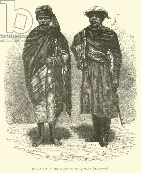 Hova spies of the Queen of Madagascar, Malagasy (engraving)