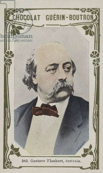 Gustave Flaubert, ecrivain (coloured photo)