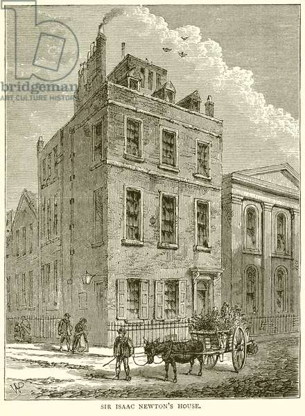 Sir Isaac Newton's House (engraving)