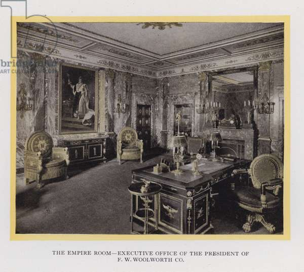 The Woolworth Building, New York: The Empire Room, Executive Office of the President of F W Woolworth Co (b/w photo)