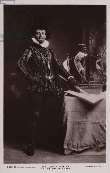Mr Lewis Walker as Sir Walter Raleigh (b/w photo)