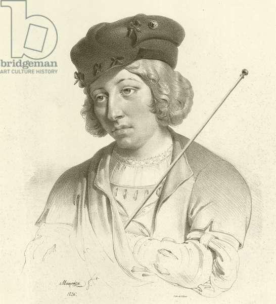 Lucas van Leyden, Dutch artist (engraving)