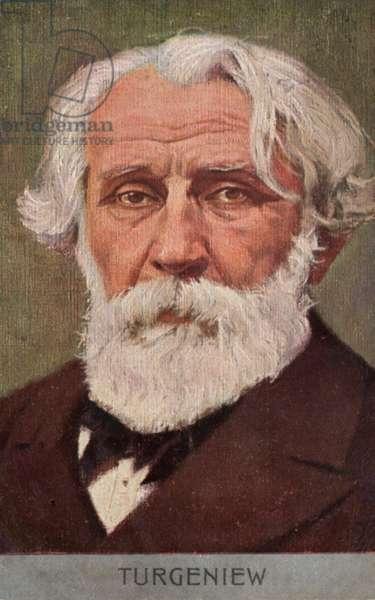 Ivan Turgenev, Russian novelist (colour litho)