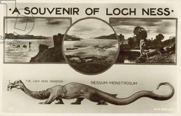 Loch Ness, Scotland (litho)