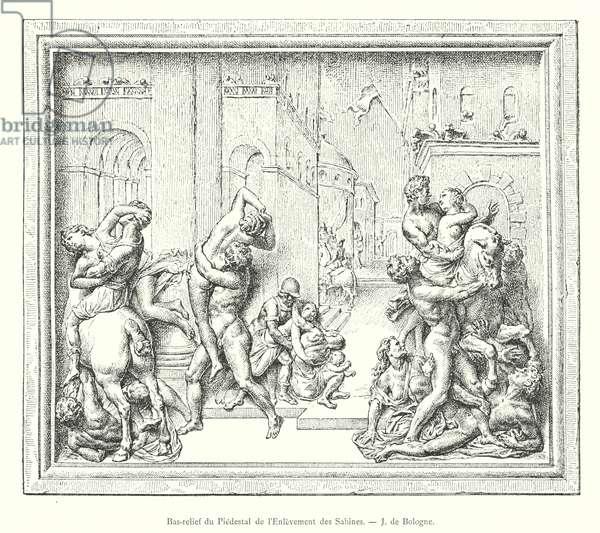 Bas-relief du Piedestal de l'Enlevement des Sabines, J de Bologne (engraving)