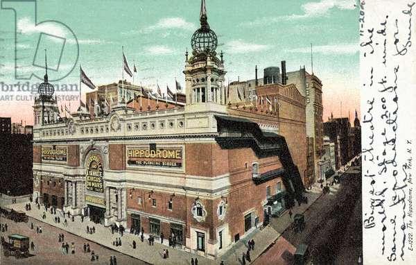 The Hippodrome, New York, USA (colour photo)