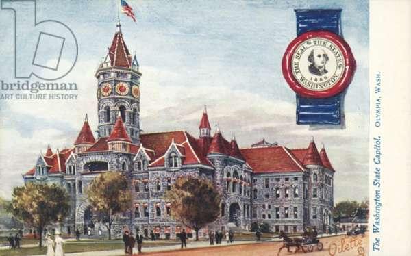 The Washington State Capitol, Olympia, Washington (colour litho)