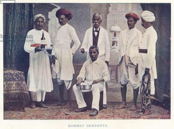 Indian Natives: Bombay Servants (coloured photo)