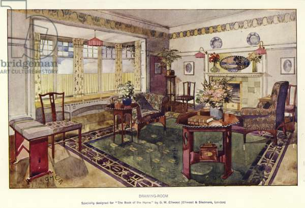 Drawing-Room (colour litho)