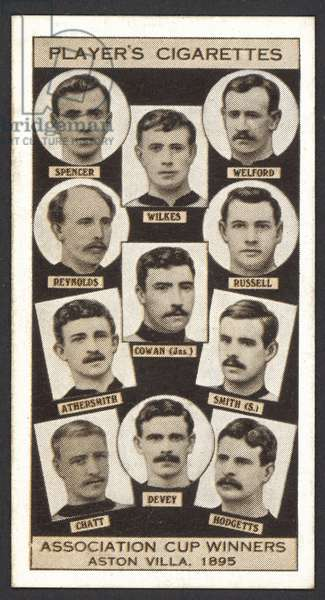 Association Cup Winners, Aston Villa, 1895 (litho)