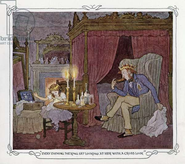 Illustration for The Magic Fishbone by Charles Dickens (colour litho)
