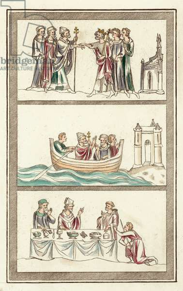 Life of Thomas Becket (coloured engraving)