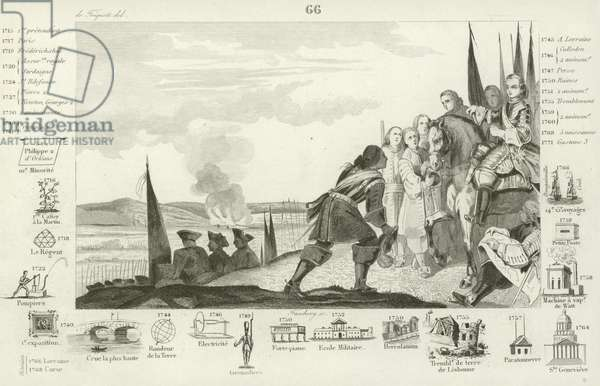 Battle of Fontenoy, 1745 (engraving)