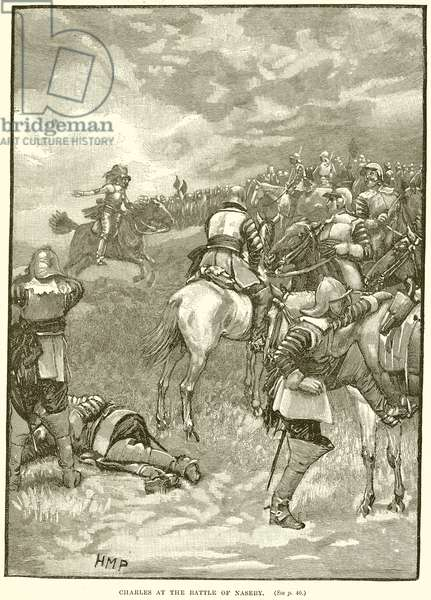 Charles at the Battle of Naseby (engraving)