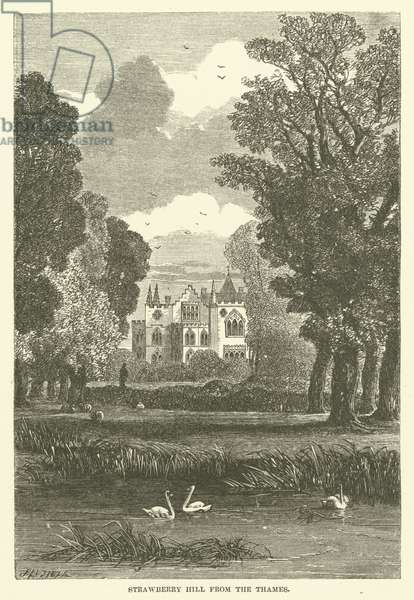 Strawberry Hill from the Thames (engraving)