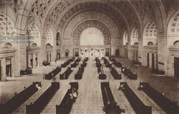Union Station Waiting Room (b/w photo)