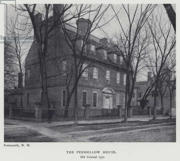 The Penhollow House, Old Colonial type (b/w photo)
