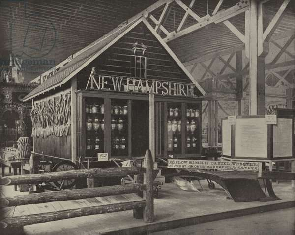 New Hampshire in Agricultural Hall (b/w photo)