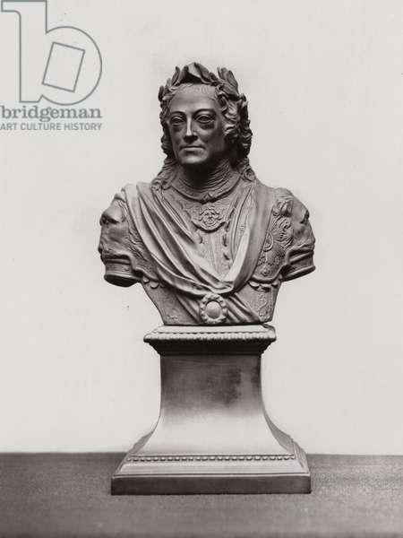 Wedgwood black basalt bust of English soldier John Churchill, 1st Duke of Marlborough (autotype)