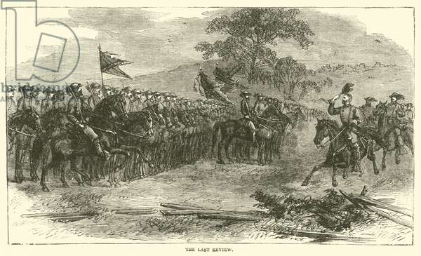 The last review, April 1865 (engraving)