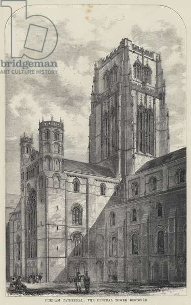 Durham Cathedral, the Central Tower Restored (engraving)
